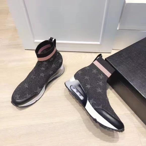Ash Shoes   Ash Star Print Sock Sneker